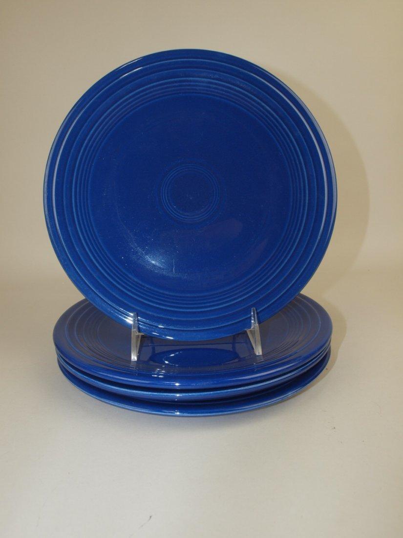 """Fiesta 9"""" plate group, 4 cobalt"""