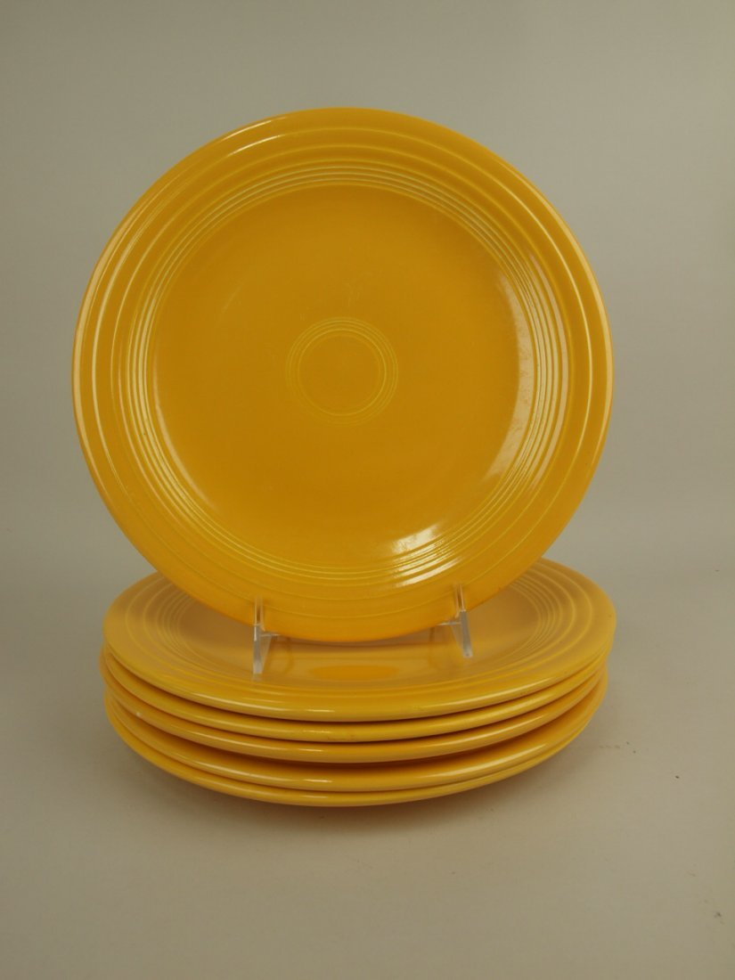 "Fiesta 10"" plate group, 6 yellow"
