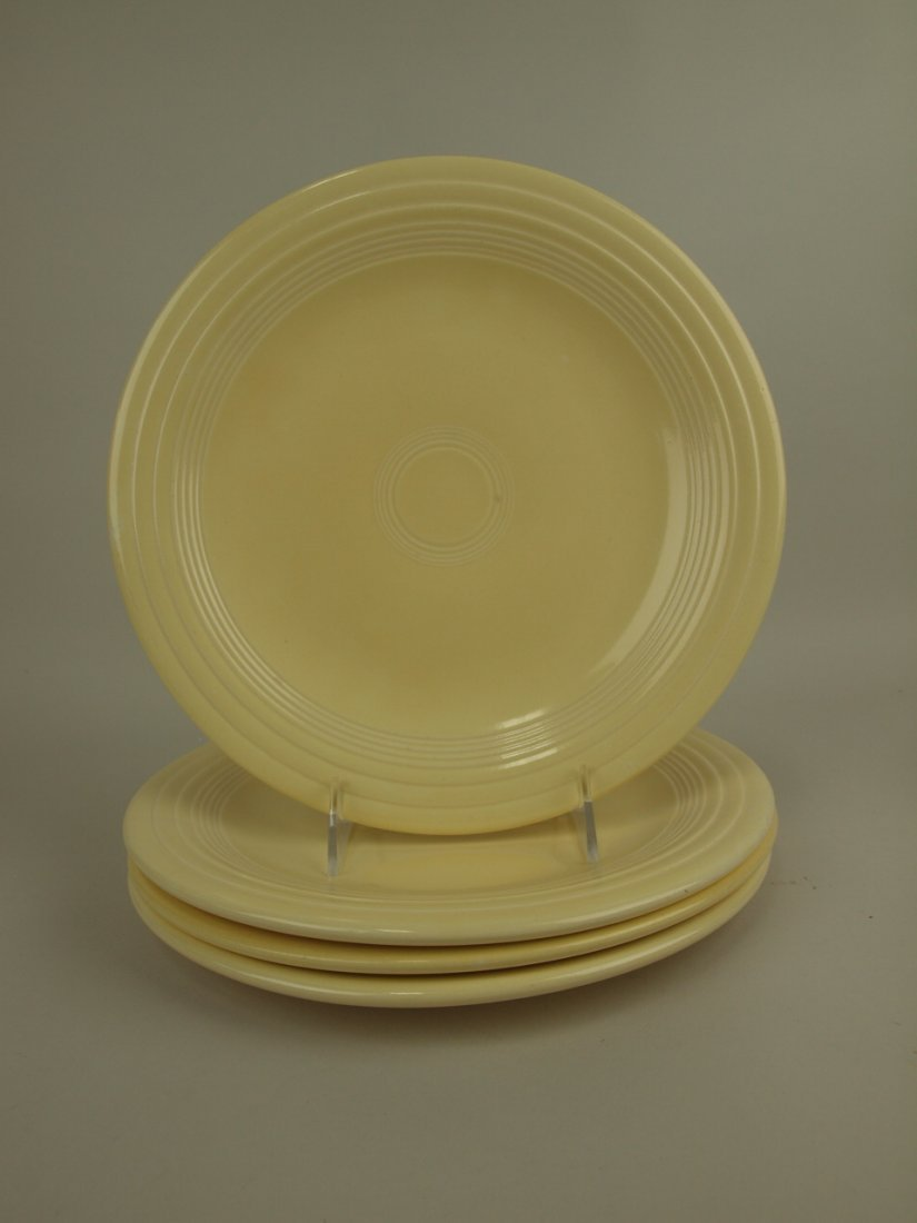 "Fiesta 10"" plate group, 4 ivory"