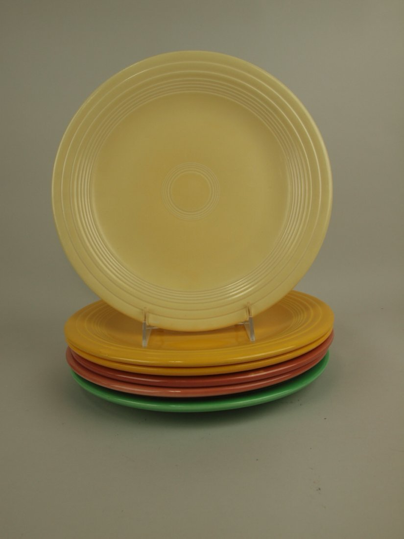 """Fiesta 10"""" plate group, 6 mixed colors"""