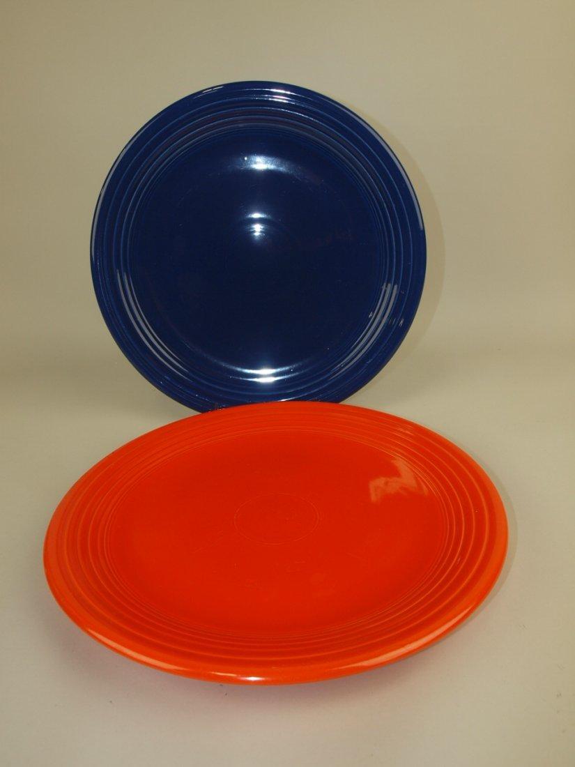 """Fiesta 13"""" chop plates, red & cobalt"""