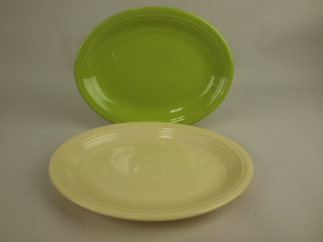 Fiesta platter group: chartreuse & ivory