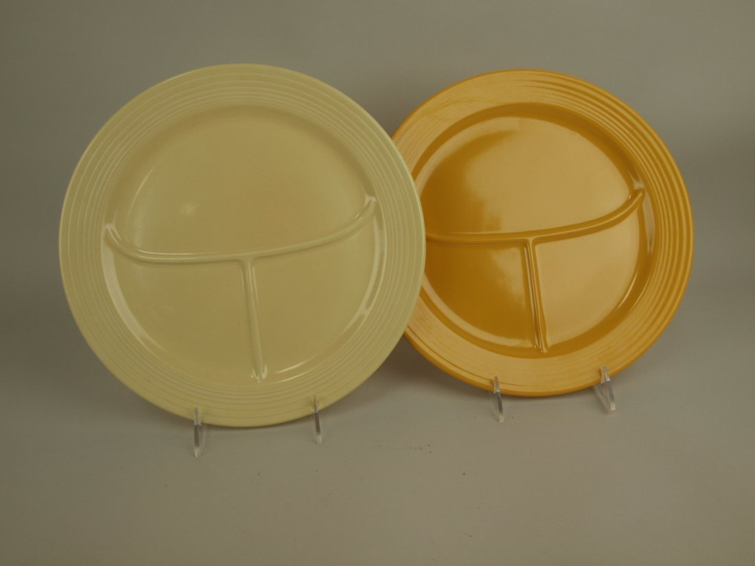 "Fiesta 12"" compartment plate group: ivory & yellow"