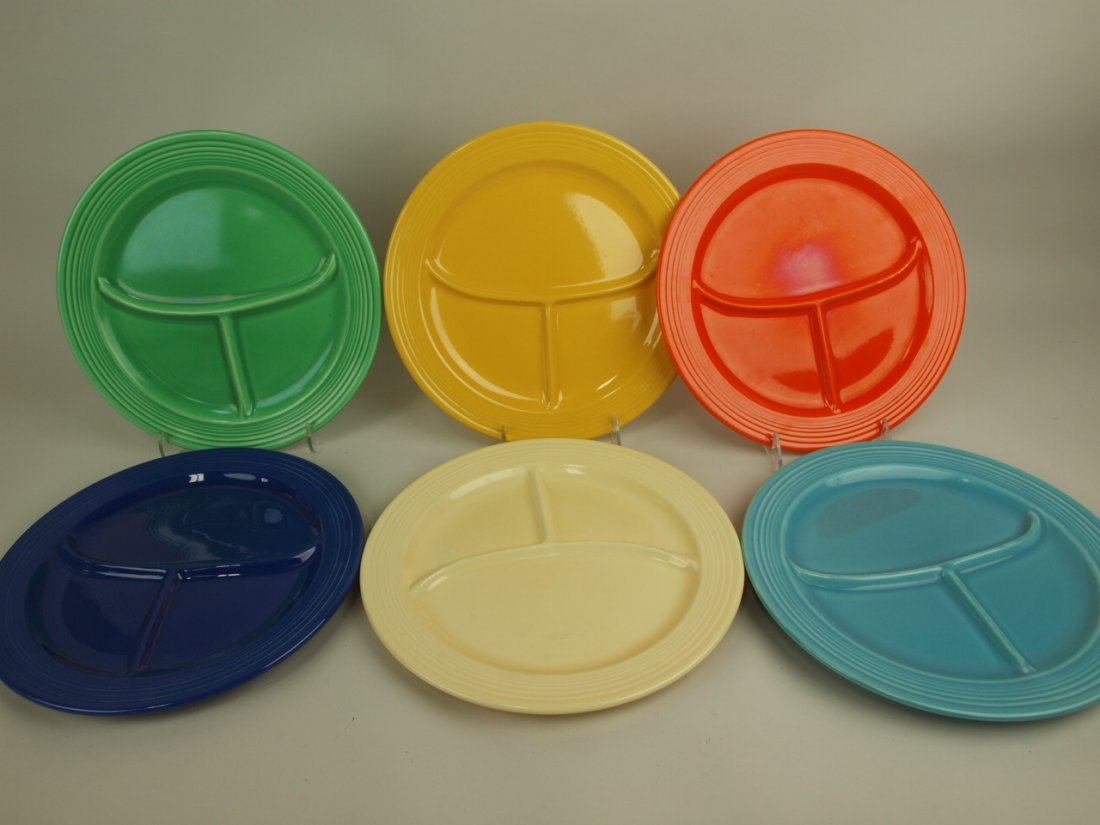 "Fiesta 10 1/2"" compartment plate group: original 6"
