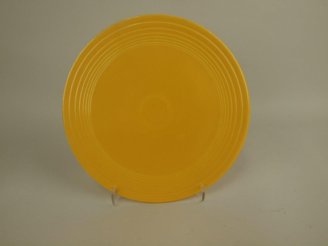 Fiesta cake plate, RARE, yellow