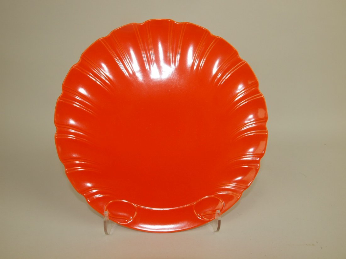 "RARE Fiesta red shell plate, 9 1/2"", EXTREMELY RARE,"