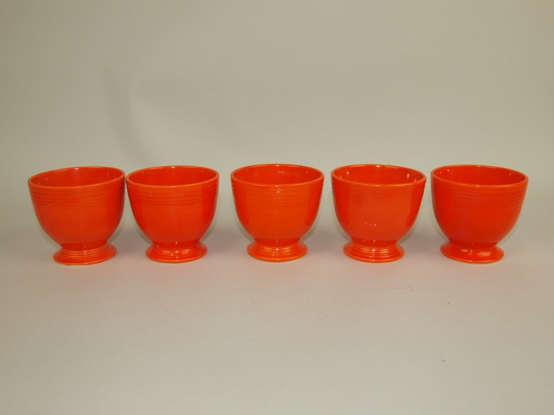 Fiesta egg cup group: 5-red
