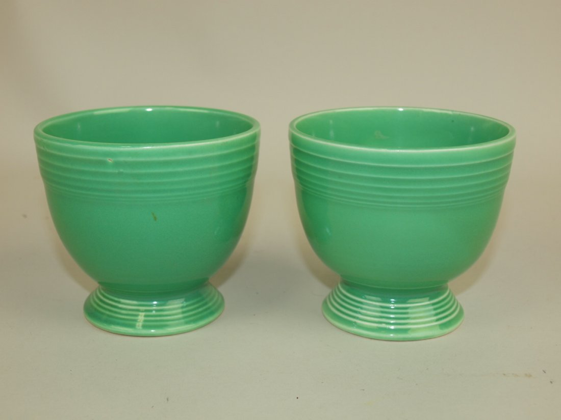 Fiesta egg cup group: 2-green