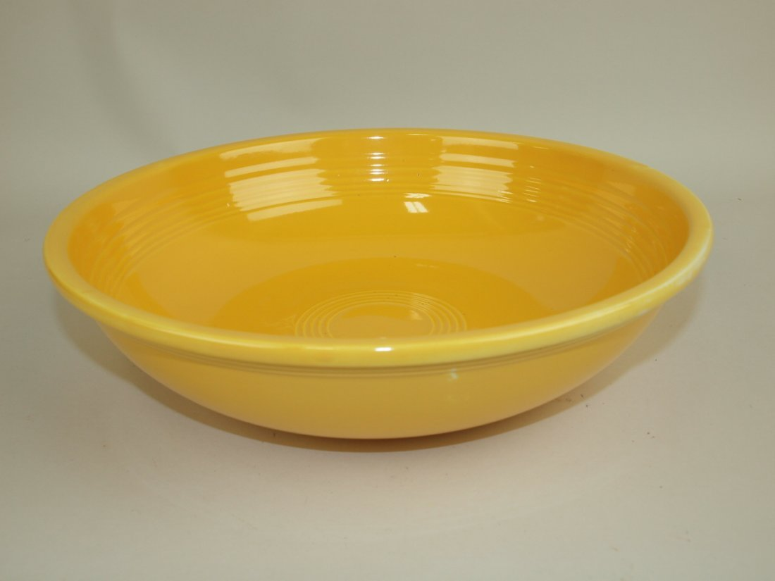 "Fiesta 11 3/4"" fruit bowl, yellow, glaze pitting"