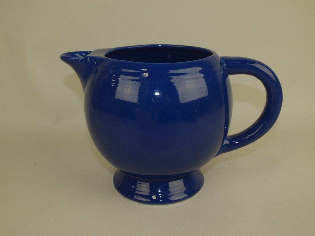 Fiesta ice lip pitcher, cobalt