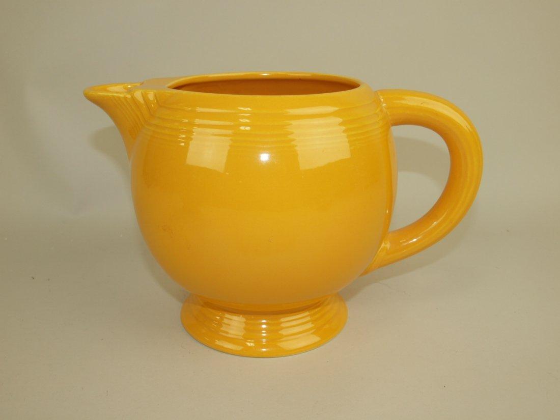 Fiesta ice lip pitcher, yellow