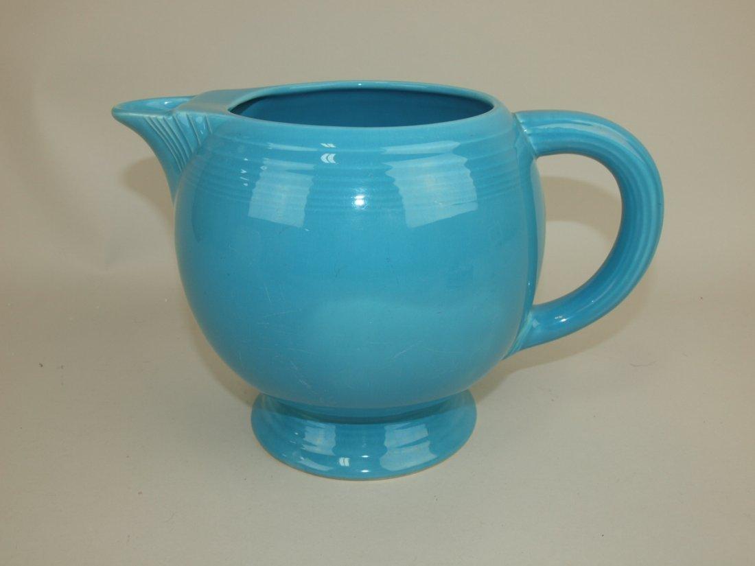 Fiesta ice lip pitcher, turquoise