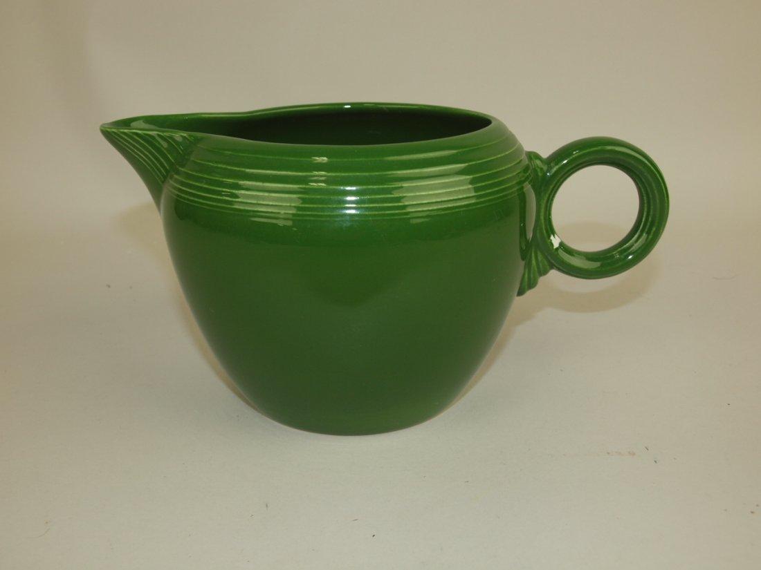 Fiesta two pint jug, dark green