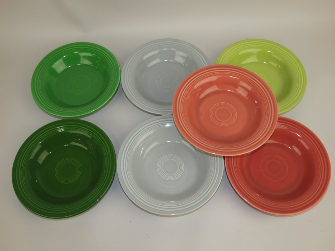 Fiesta deep plate group: lot of 7- 50's colors