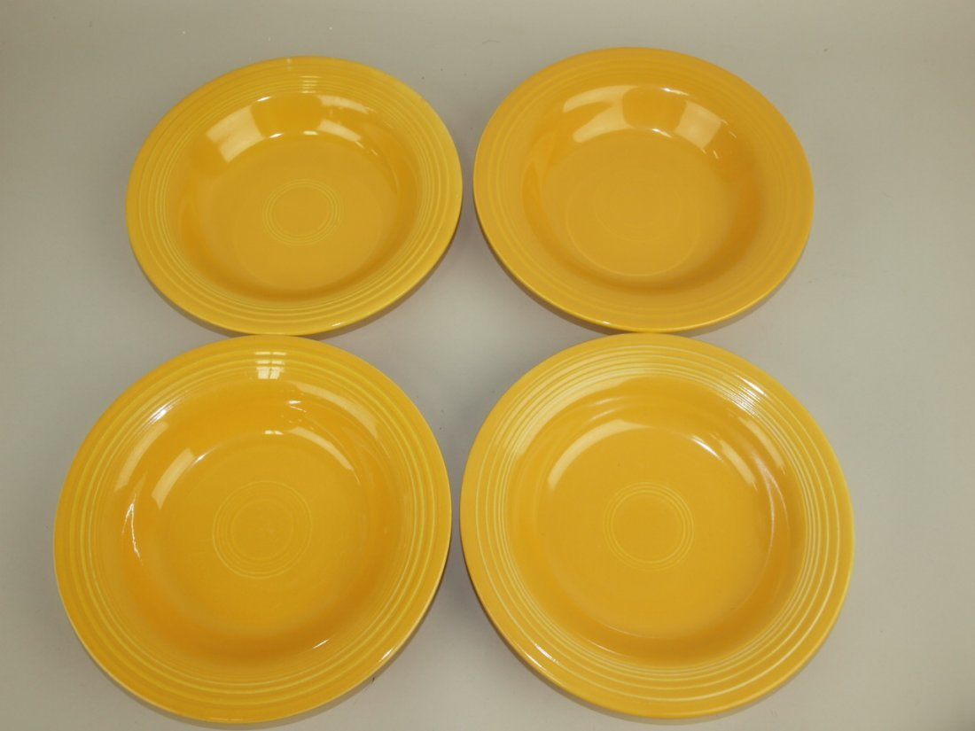 Fiesta deep plate group:  4 yellow