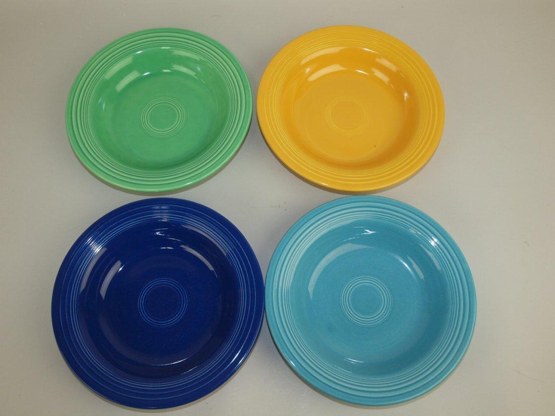 Fiesta deep plate group:  4 mixed colors