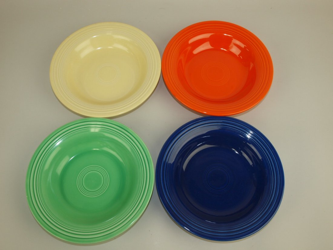 Fiesta deep plate group:  4 mixed colors