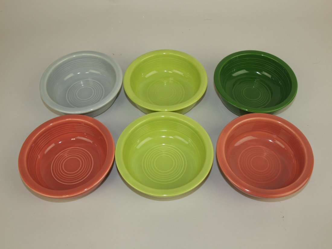 "Fiesta 4 3/4"" fruit bowl group: 6-50's colors"