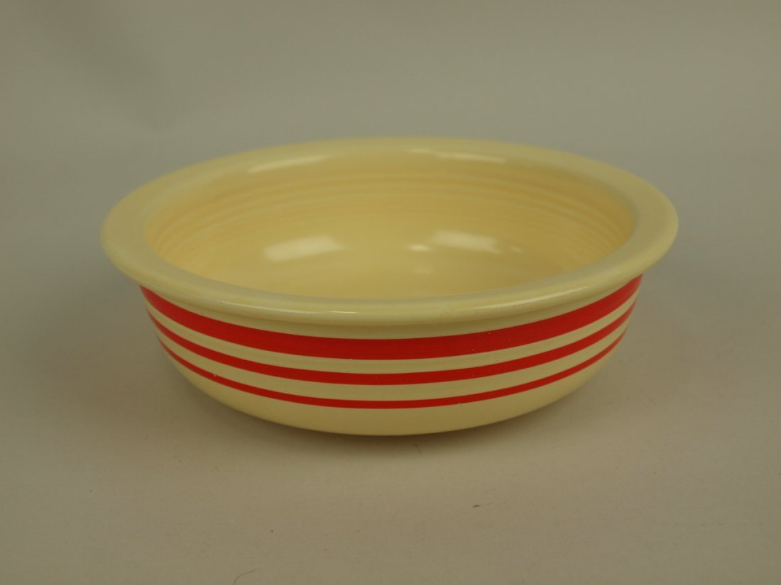 "Fiesta 5 1/2"" fruit bowl RARE ivory with red stripe"
