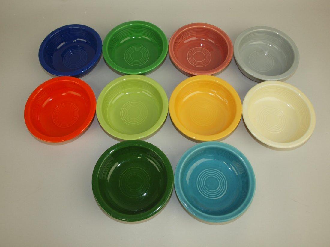 "Fiesta 5 1/2"" fruit bowl group: 10 mixed colors"