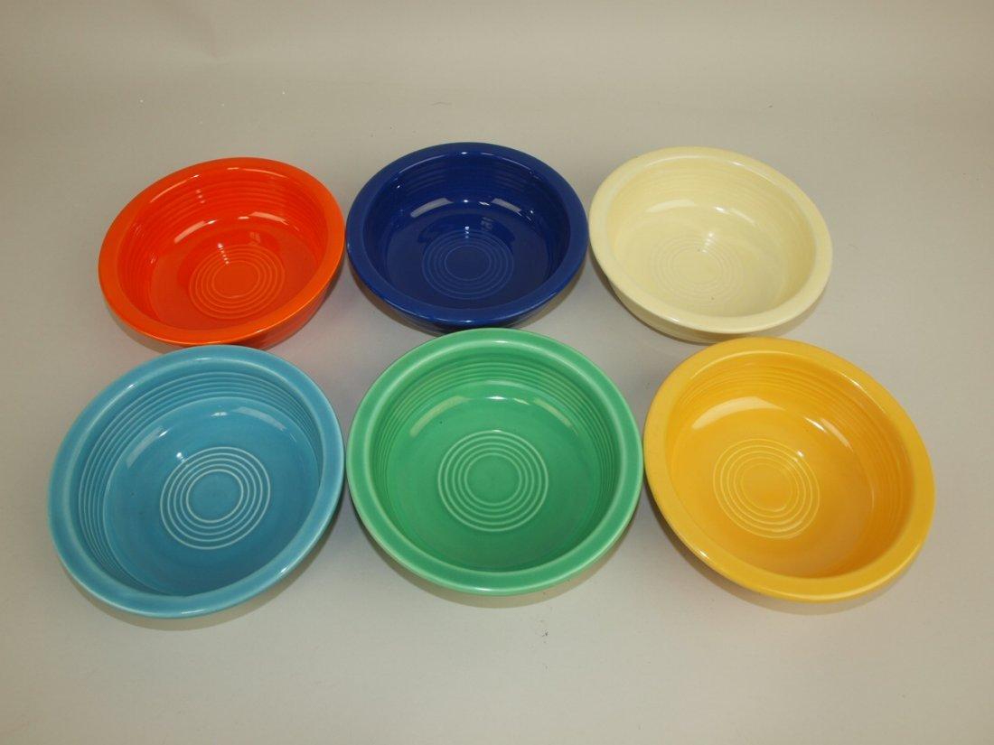 """Fiesta 5 1/2"""" fruit bowl group: all 6 original colors"""