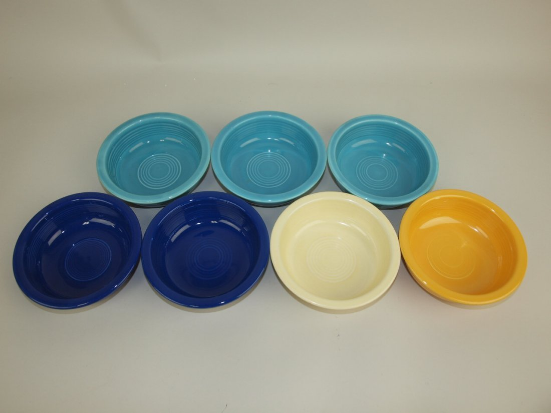 "Fiesta 5 1/2"" fruit bowl group: 7 mixed colors"