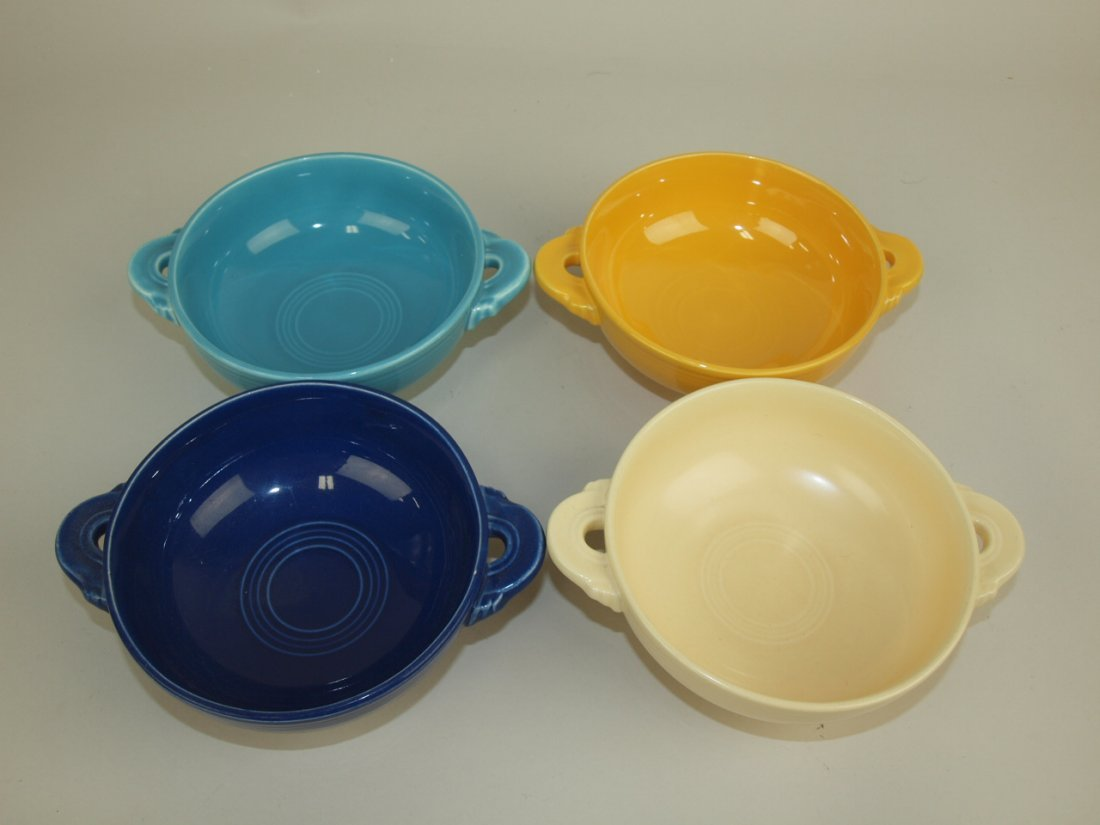 Fiesta cream soup group: 4 mixed colors