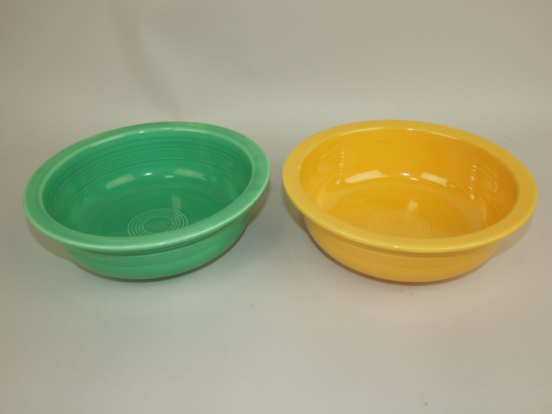 "Fiesta 8 1/2"" nappy bowl group: yellow & green"
