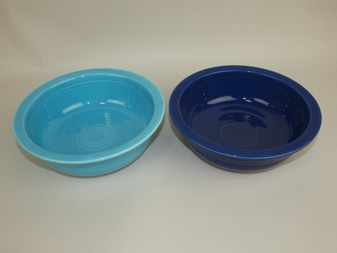 """Fiesta 8 1/2"""" nappy bowl group: turquoise & cobalt"""