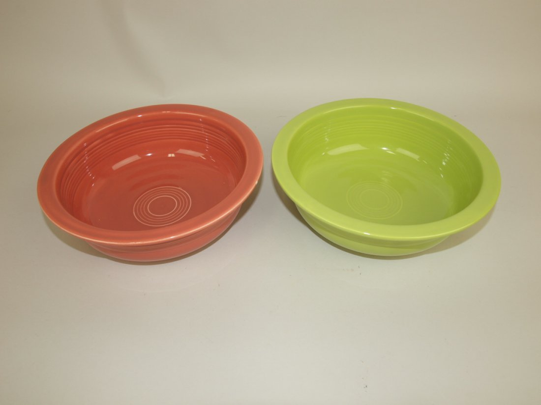 """Fiesta 8 1/2"""" nappy bowl group: rose & chartreuse"""