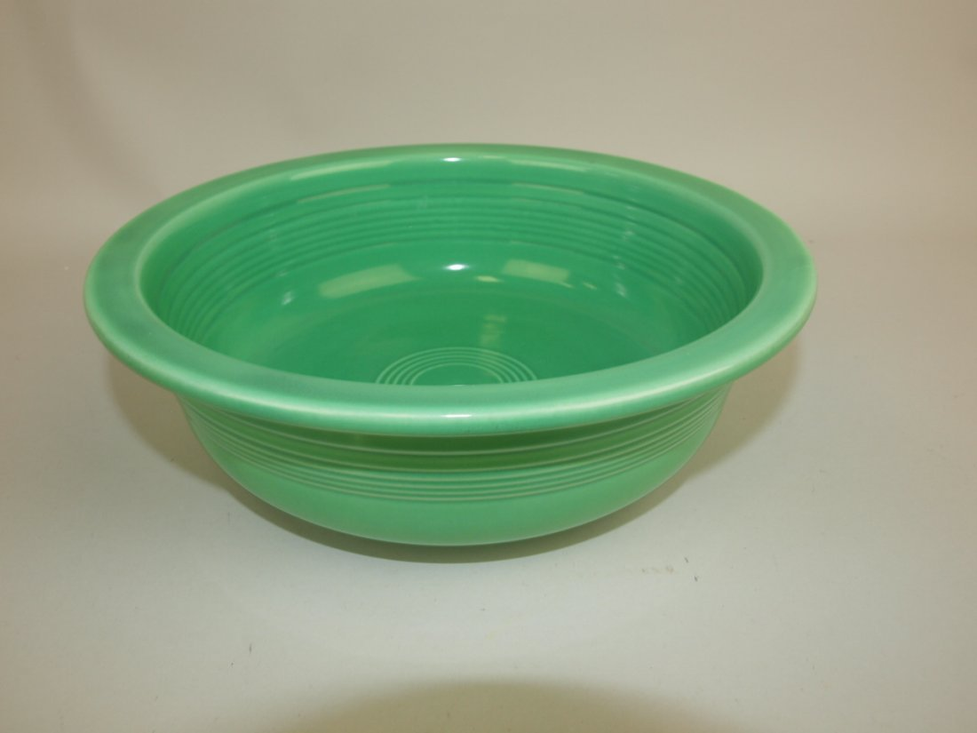 "Fiesta 9 1/2"" nappy bowl,  green"
