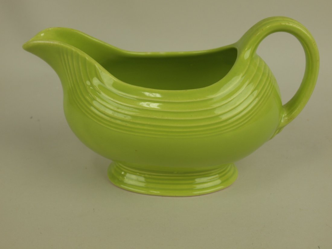 Fiesta sauce boat, chartreuse