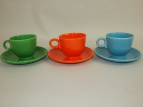 Fiesta Cup & Saucer Group: 3 Mixed Colors