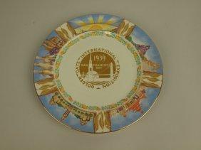 1939 Golden Gate Expo Souvenir Plate