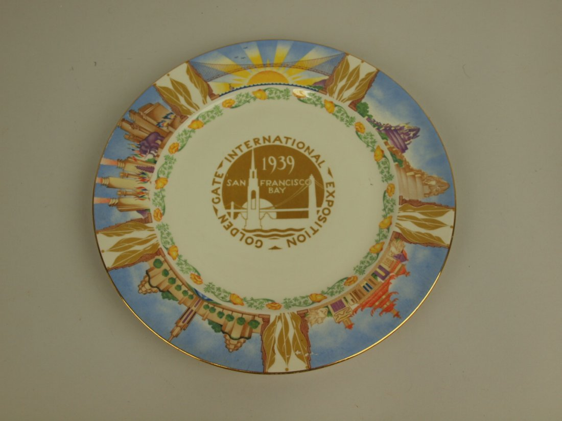 1939 Golden Gate Expo souvenir plate