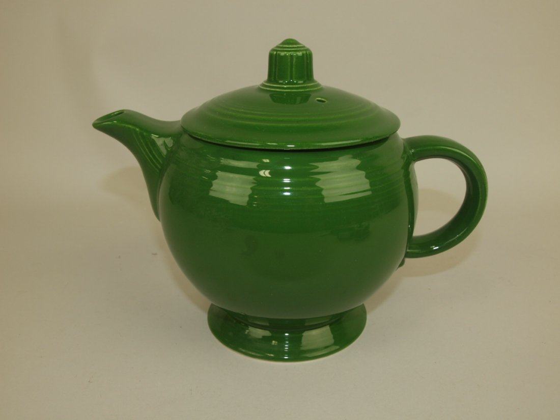 Fiesta medium teapot, dark green
