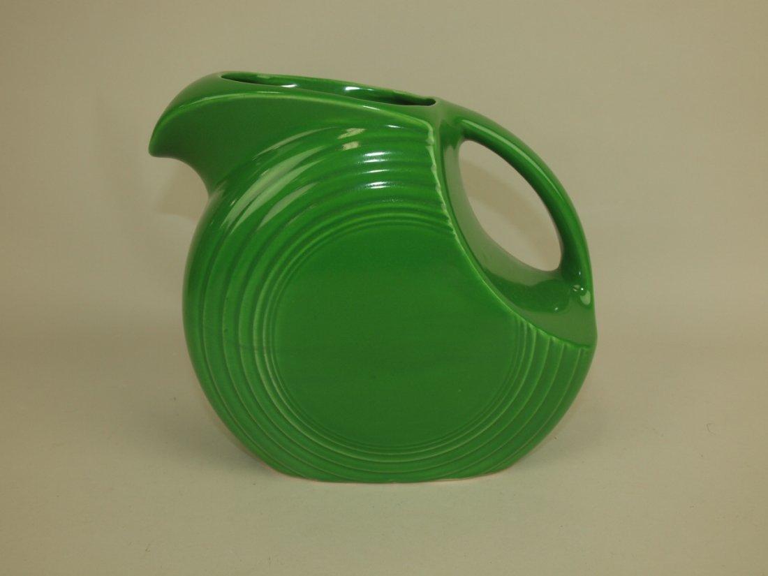 Fiesta disk pitcher, medium green