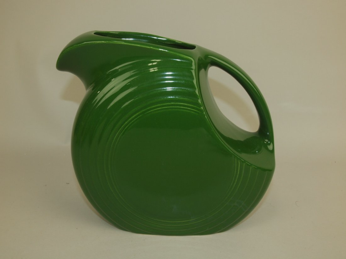 Fiesta disk pitcher, dark green