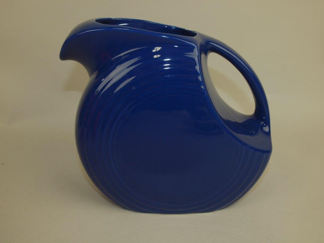 Fiesta disk pitcher, cobalt
