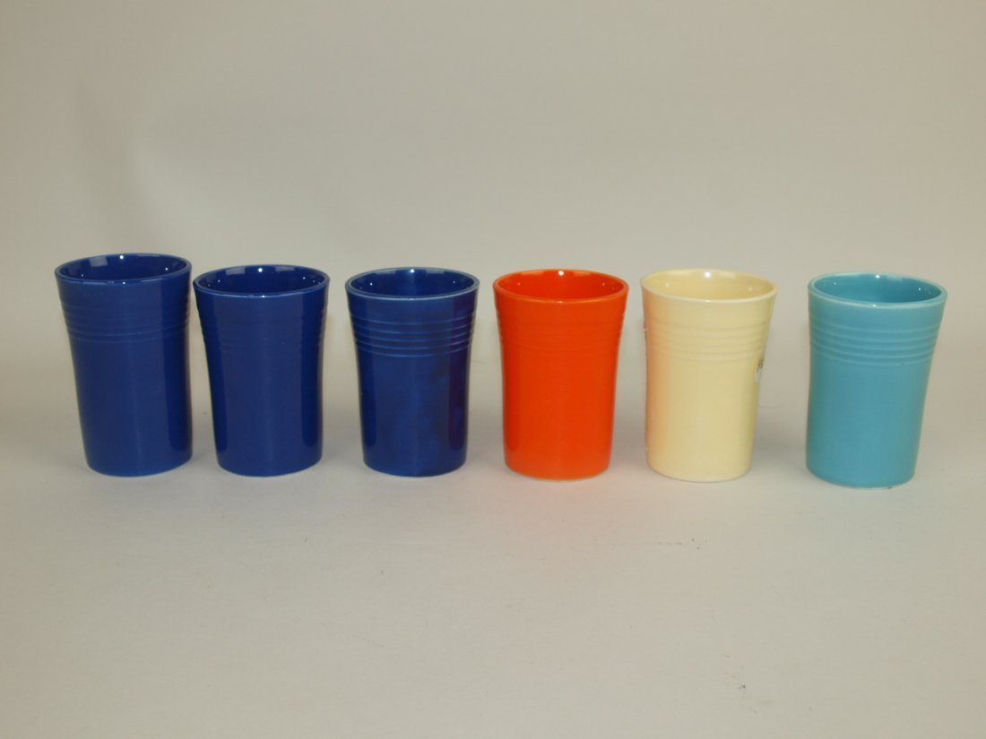 Fiesta juice tumbler group: 3-cobalt, red, ivory, &