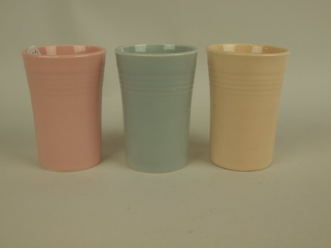 Fiesta juice pitcher group: shell pink (minor nick),
