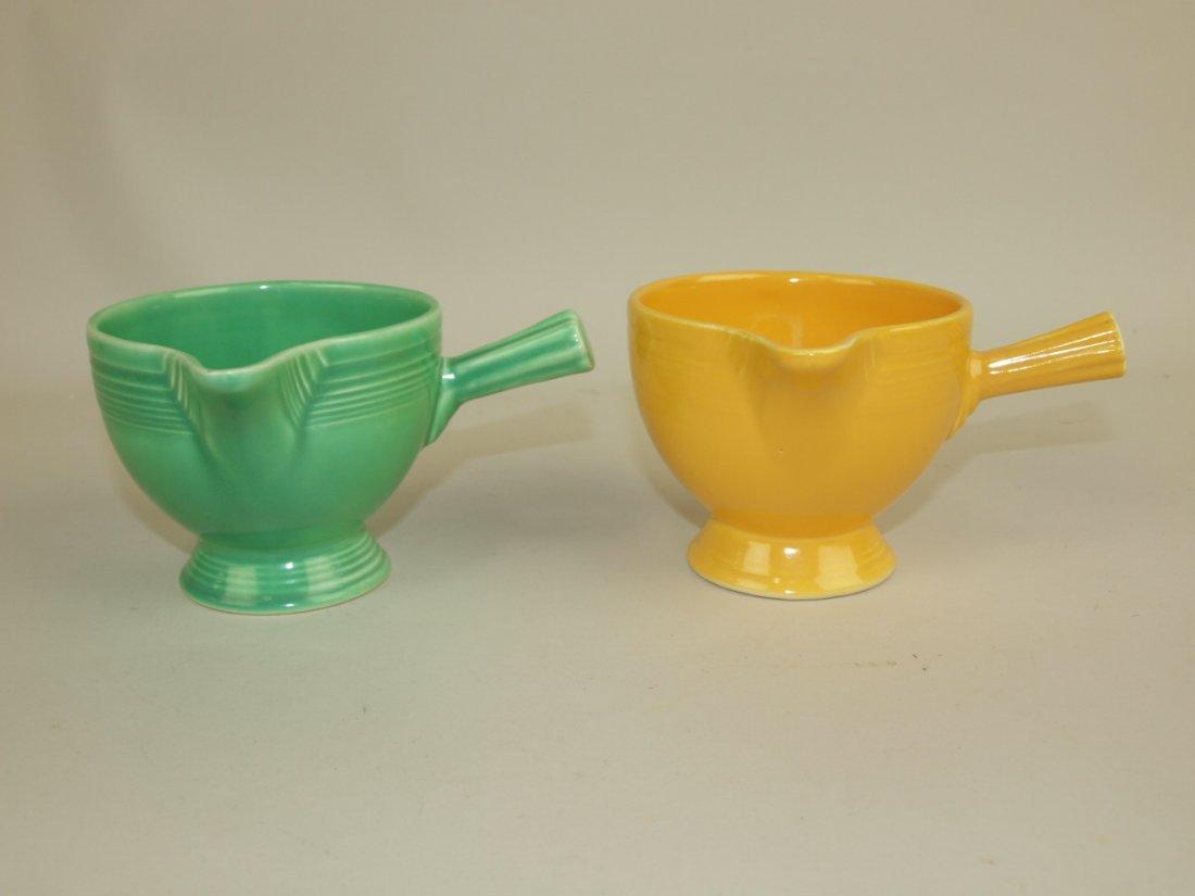 Fiesta stick handled creamer group: green & yellow