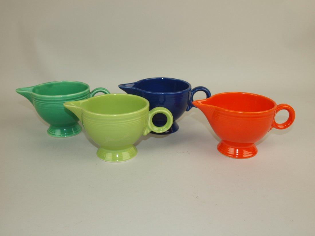 Fiesta creamer group: red, cobalt, green, & chartreuse