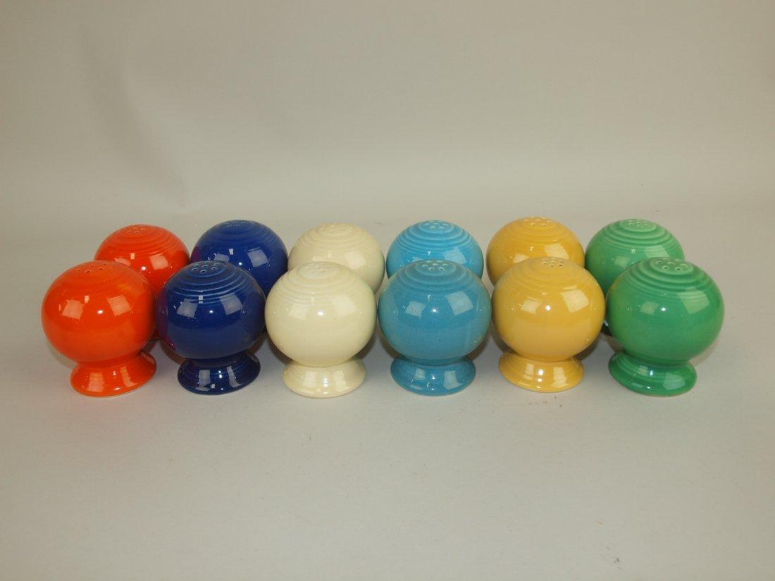 Fiesta salt & pepper pairs group: all original 6 colors