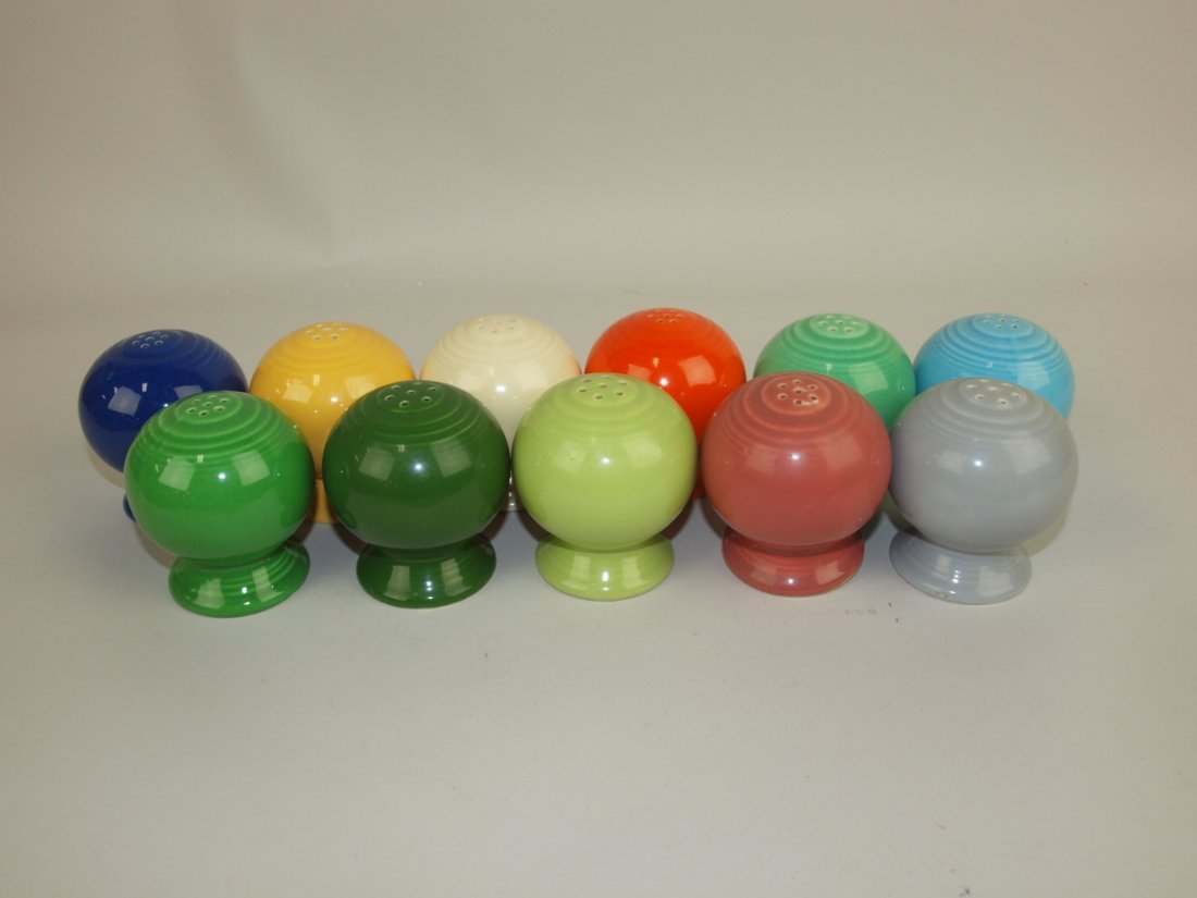 Fiesta shaker group: all 11 colors, singles, some with