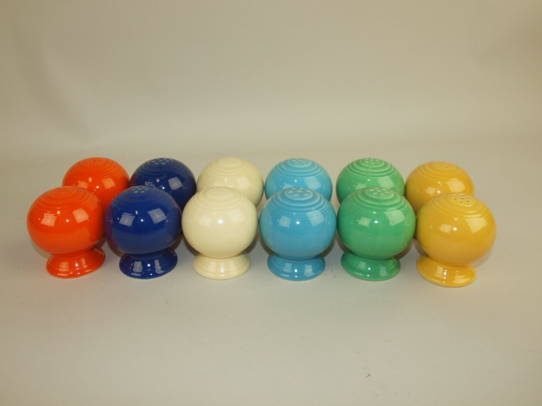 Fiesta salt & pepper group: 6 pair all original 6