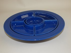 Fiesta Relish Tray, All Cobalt