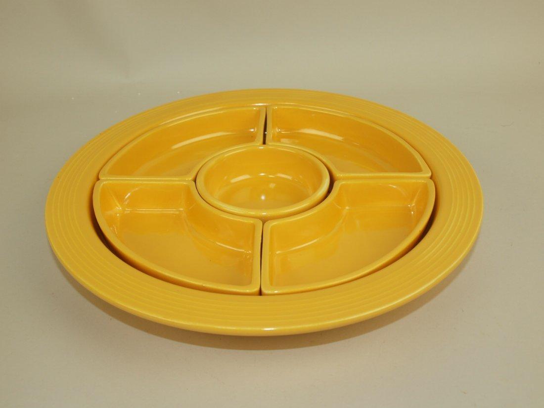 Fiesta relish tray, all yellow