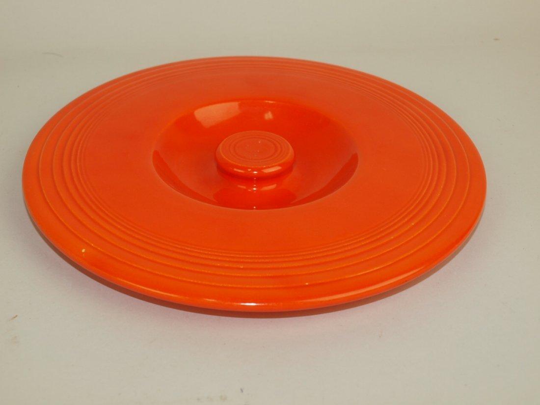 Fiesta #4 mixing bowl lid, red, nick