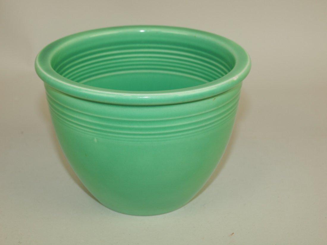 Fiesta #1 mixing bowl, green, inside rings, nick